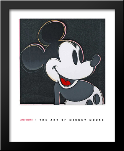The Art of Mickey Mouse 28x34 Framed Art Print by Andy Warhol | eBay