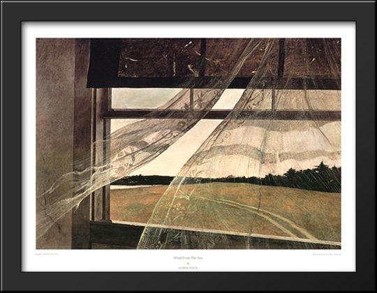 Wind From The Sea 34x26 Extra Large Black Wood Framed Art