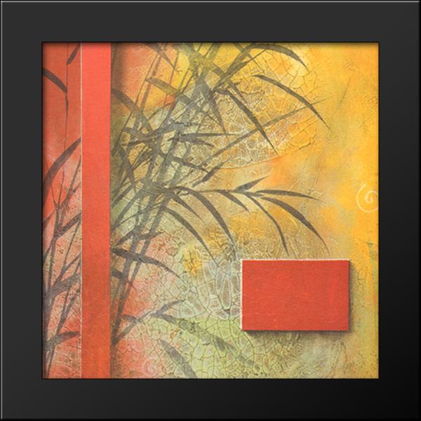 Spa Inspirations Iv 9x9 Black Wood Framed Art Print By Don Li Leger