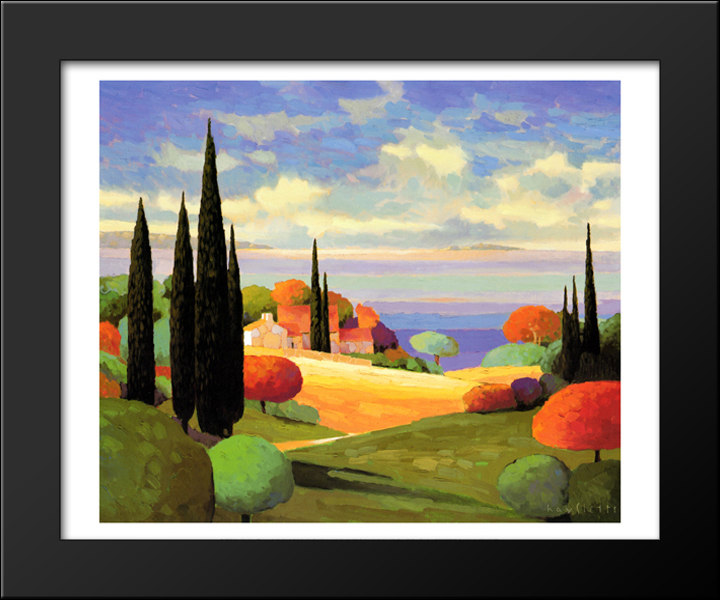 Provence by the Sea I 18x15 Black Wood Framed Art Print by Max ...
