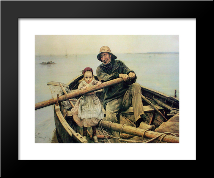 The Helping Hand 1881 22x20 Black Wood Framed Art Print By Emile